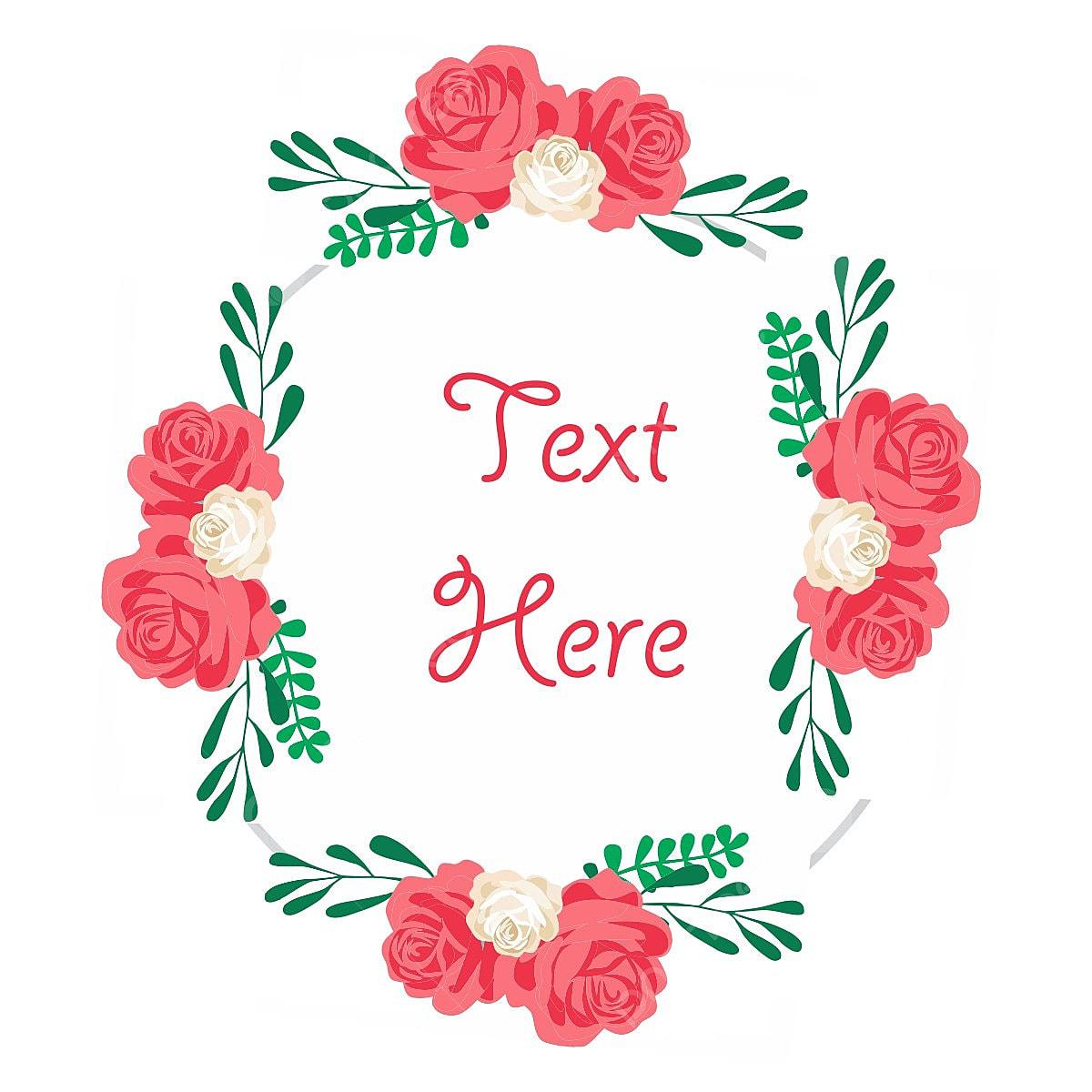 encadr u00e9 vectoriel design floral bo u00eete de texte texte