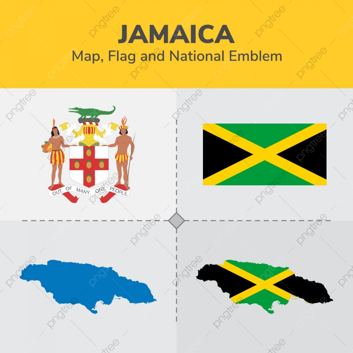 d5608cac0 Jamaica Map Flag And National Emblem, Continents, Countries, Map PNG ...