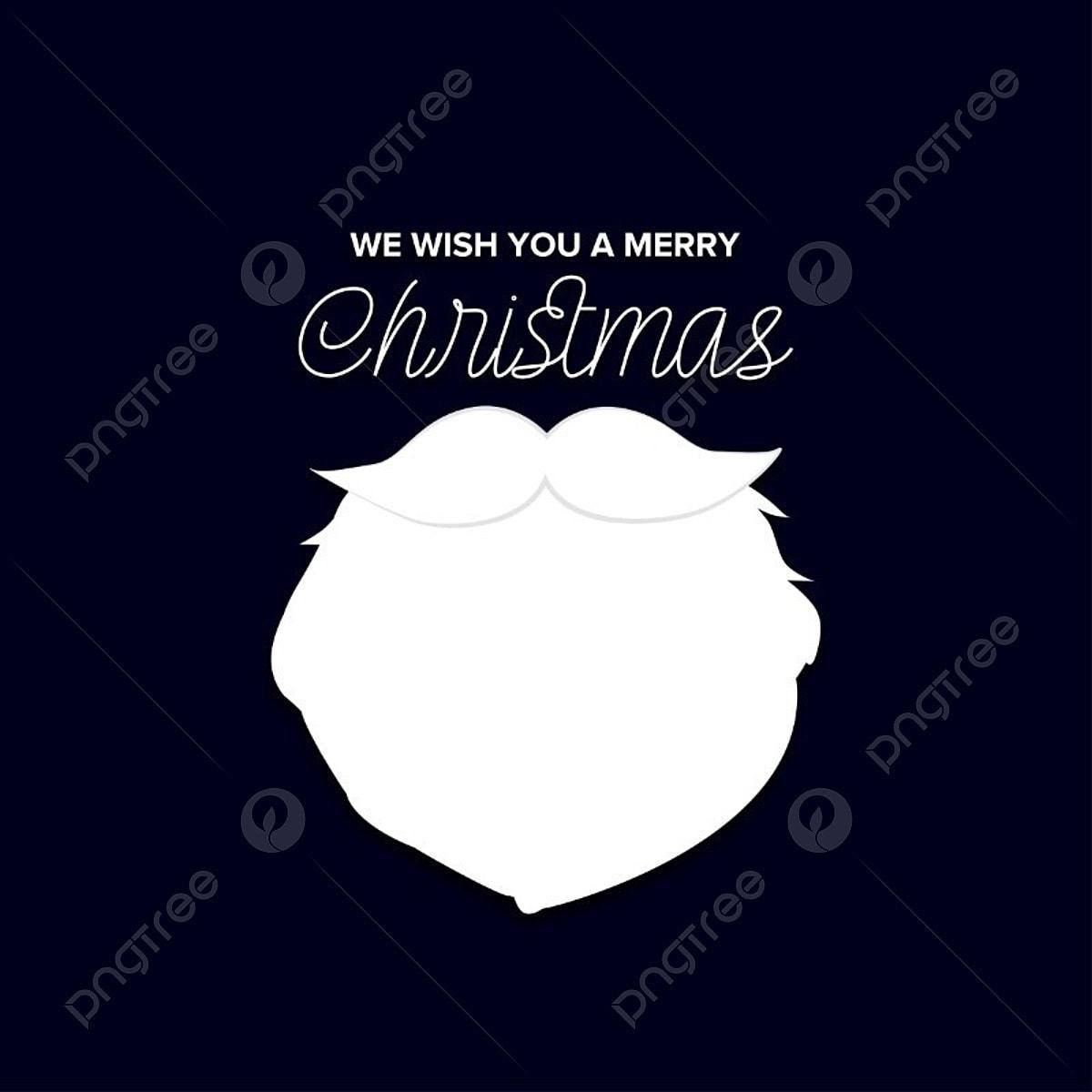 Joyeux Noël Avec Noir Et Blanc Vecteur Noël Carte Bleu