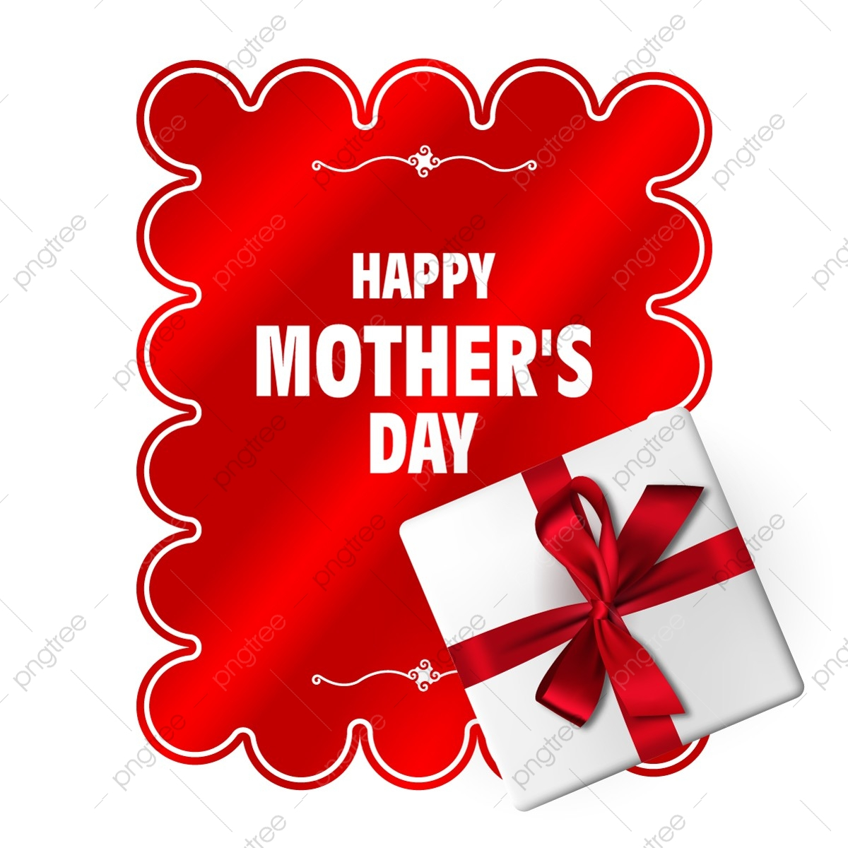 Mother S Day Card With Gift Box Mother S Day Holiday Female Day