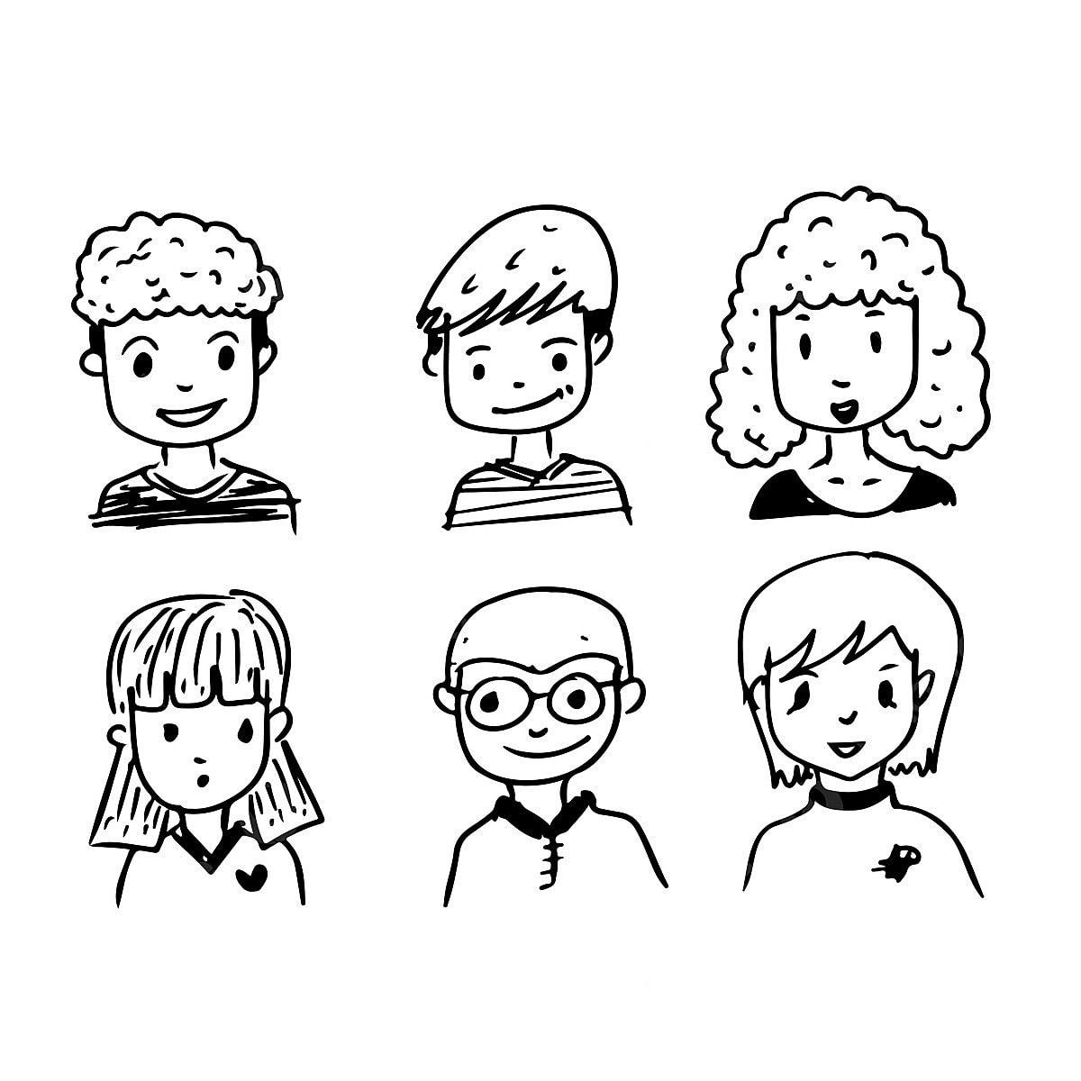 Lukisan Muka Orang Kartun