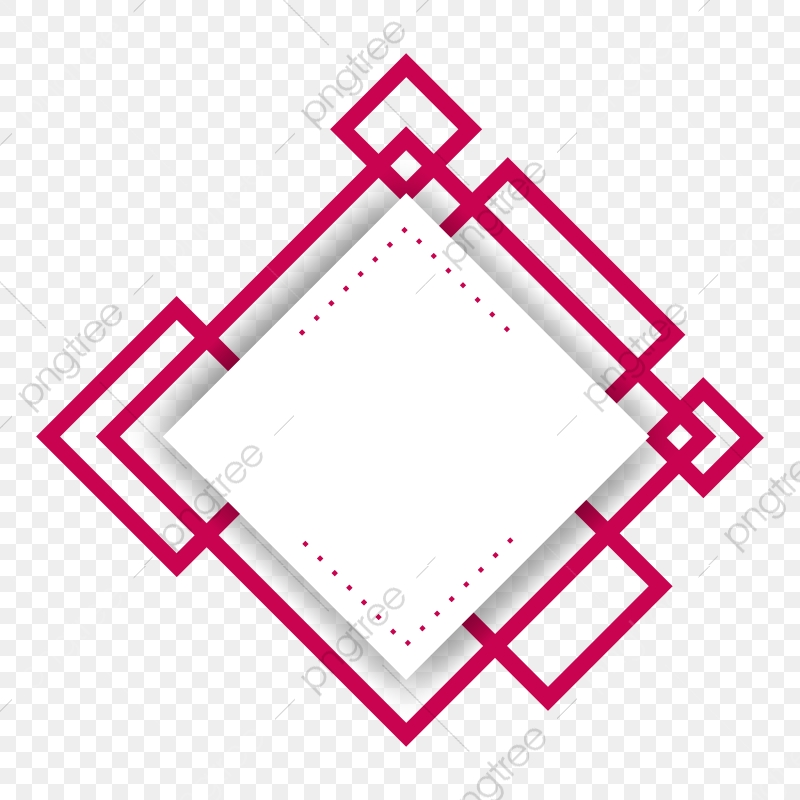 Red Abstract Shape Frame Shape Frame Line Png And Vector