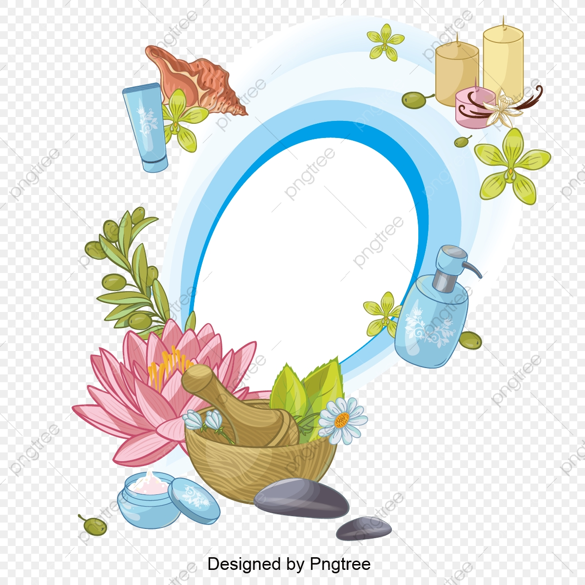 Simple Cartoon Spa Care Element Design Spa Wellness Aromatherapy Png And Vector With Transparent Background For Free Download