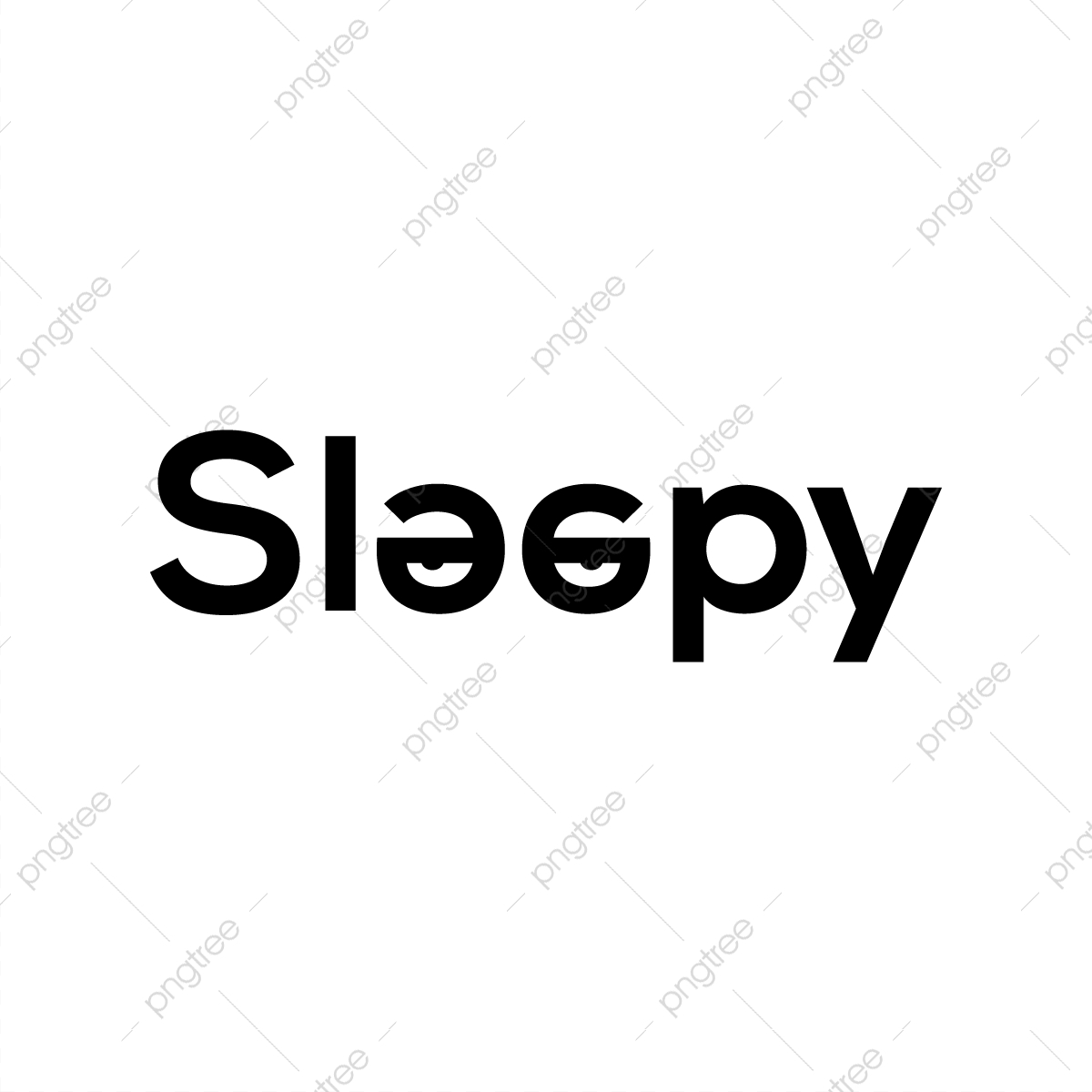 Sleepy Word Art Design, Word Art, Sleepy Design PNG and