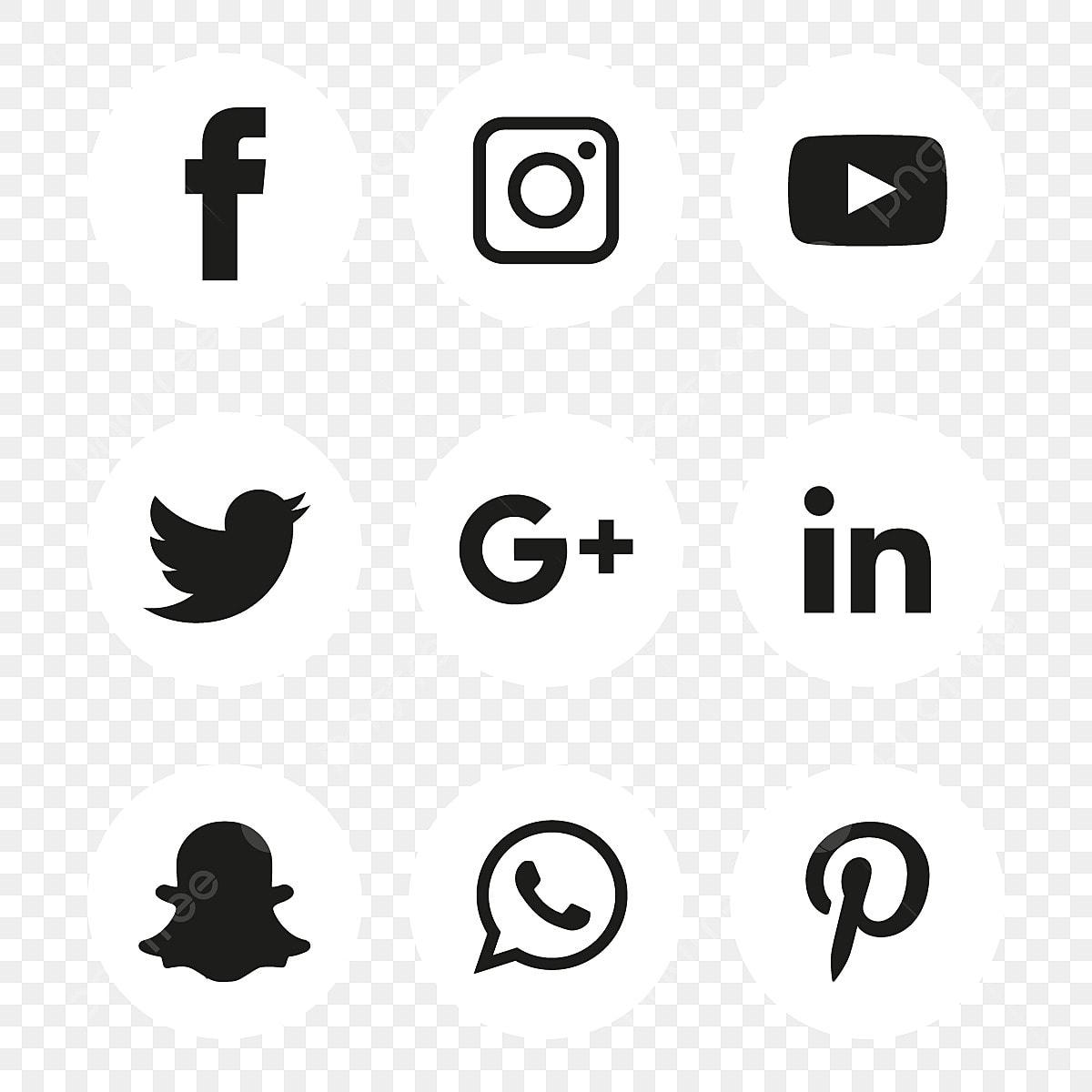 مجموعة أيقونات وسائل التواصل الاجتماعي الرموز الاجتماعية الأيقونات وسائل الإعلام اجتماعي Png والمتجهات للتحميل مجانا