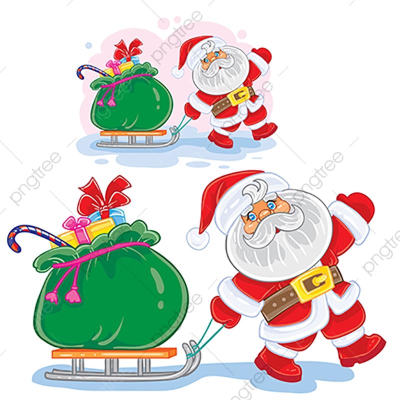 ベクトルの冬のクリスマス新年イラストサンタクロースを引きます
