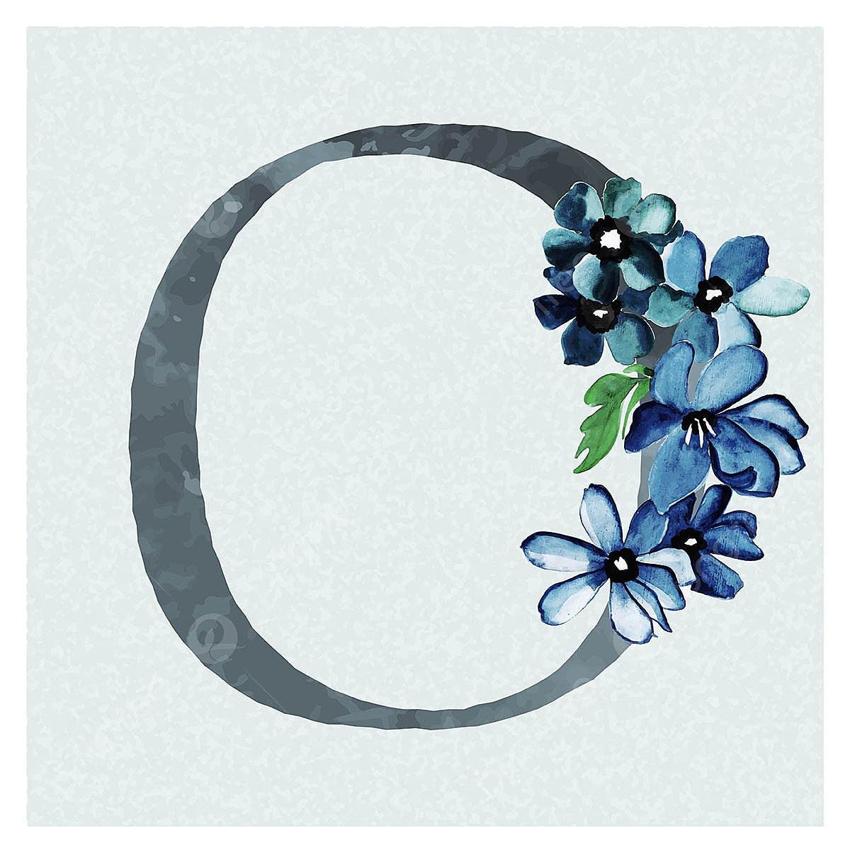 ألوان مائية الزهور خلفية باللون الأزرق موضوع الرسالة س ألوان مائية اللون زهري Png والمتجهات للتحميل مجانا
