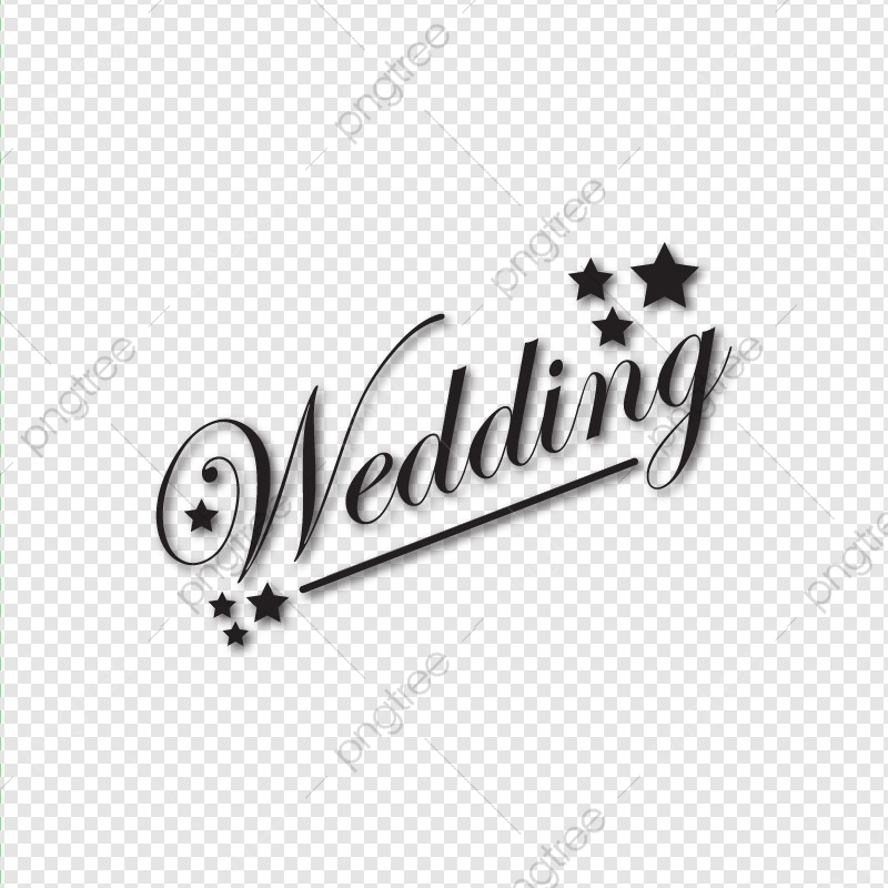 Wedding Typo, Typography, Wedding Card PNG and Vector with