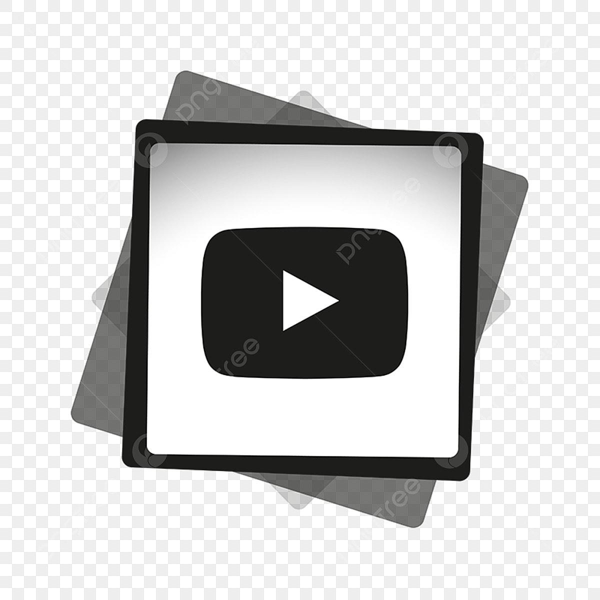 Youtube Black White Icon, Youtube Icon, Youtube Logo