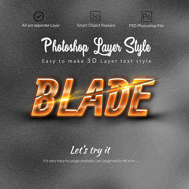 3d Layer Style Text Effects Art Font For Free Download