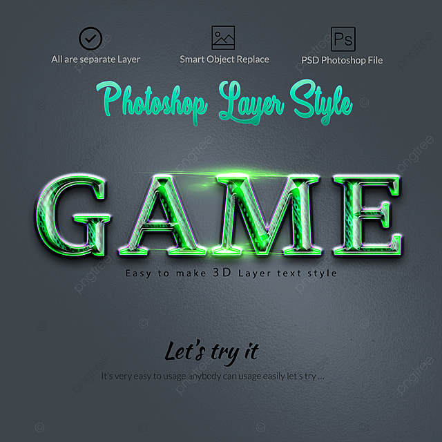 3d Photoshop Text Effect Art Font For Free Download