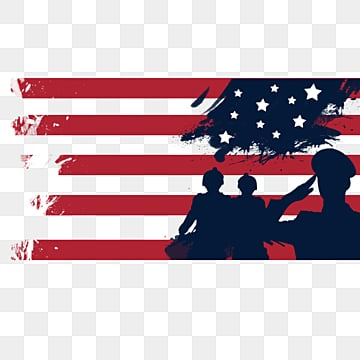 Brush effect American flag ink border, Soldier, Creative, National Flag PNG and PSD