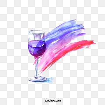Watercolor Gradual Splash Red Wine Elements, Hand Painted, Watercolor, Gouache PNG and PSD