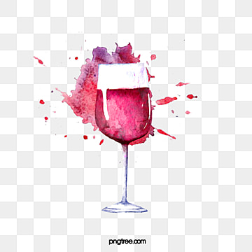 watercolor splashing red wine cup elements, Hand Painted, Watercolor, Gouache PNG and PSD