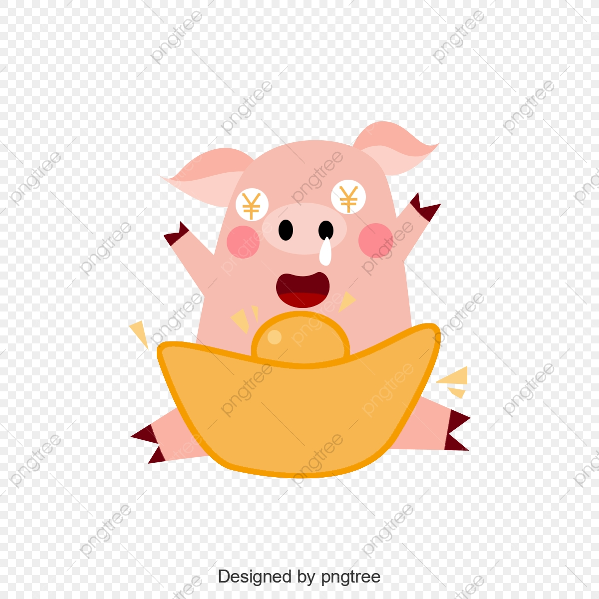 2019 New Year Wallpaper Elements Background, 2019, Pig