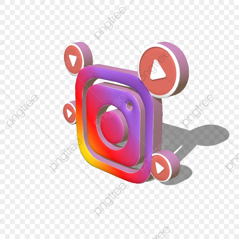 3D инстаграм, Instagram, Smm, Logo PNG and Vector with Transparent