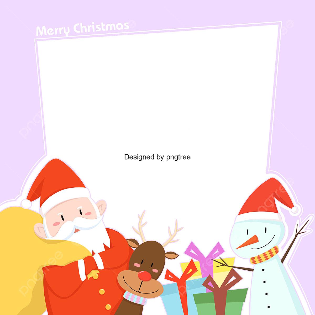 かわいいクリスマス漫画イラスト壁紙 可愛い ロマンチック 雪だるまベルボウ画像とpsd素材ファイルの無料ダウンロード Pngtree