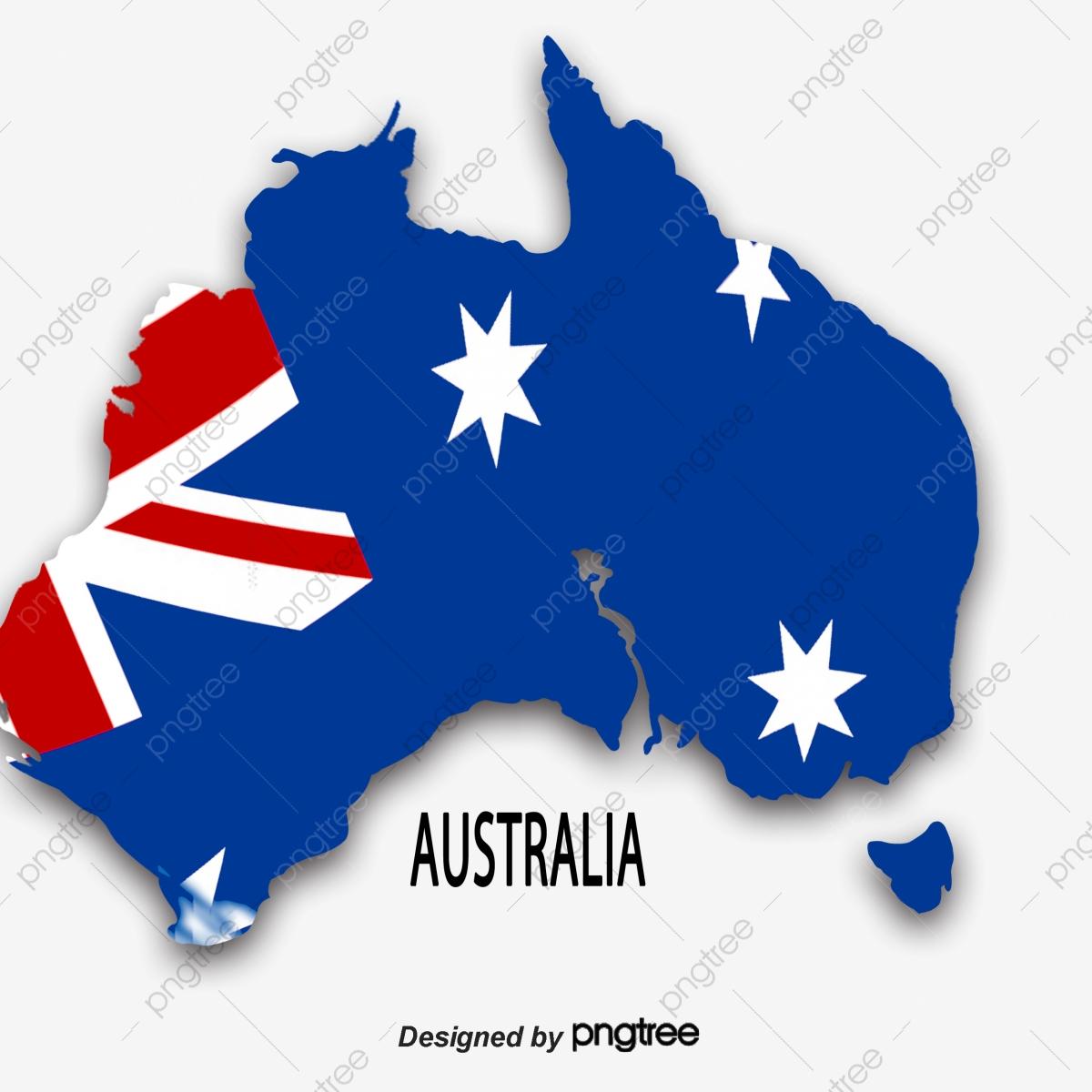 Australia Map Simple.A Simple Map Of Blue Australian Flag National Flag Map Australia