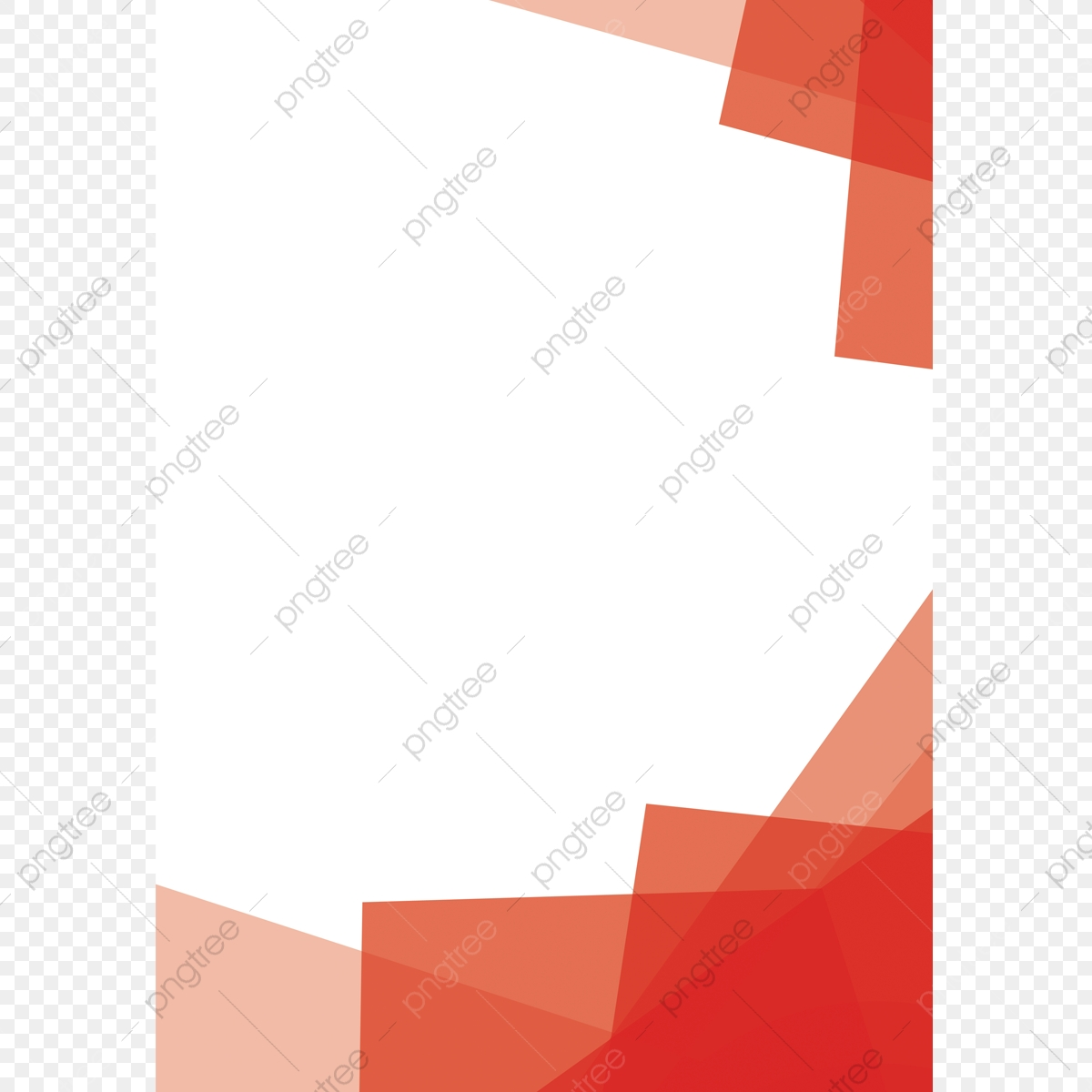 Abstract Border Colorful Red White Png Transparent