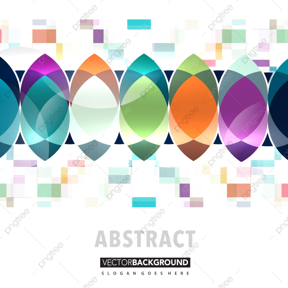 Abstract Colorful Background Polygonal Shape Vector