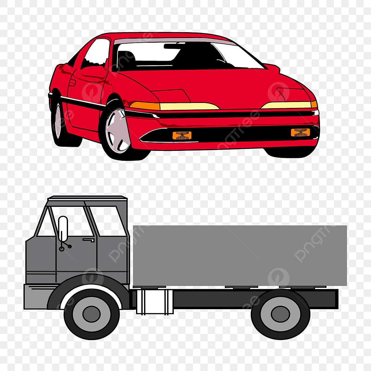 Gambar Kereta Versi Kartun Gambar Kereta Dan Lori Unsur Unsur Kereta Lori Bentuk Png Dan Vektor Untuk Muat Turun Percuma