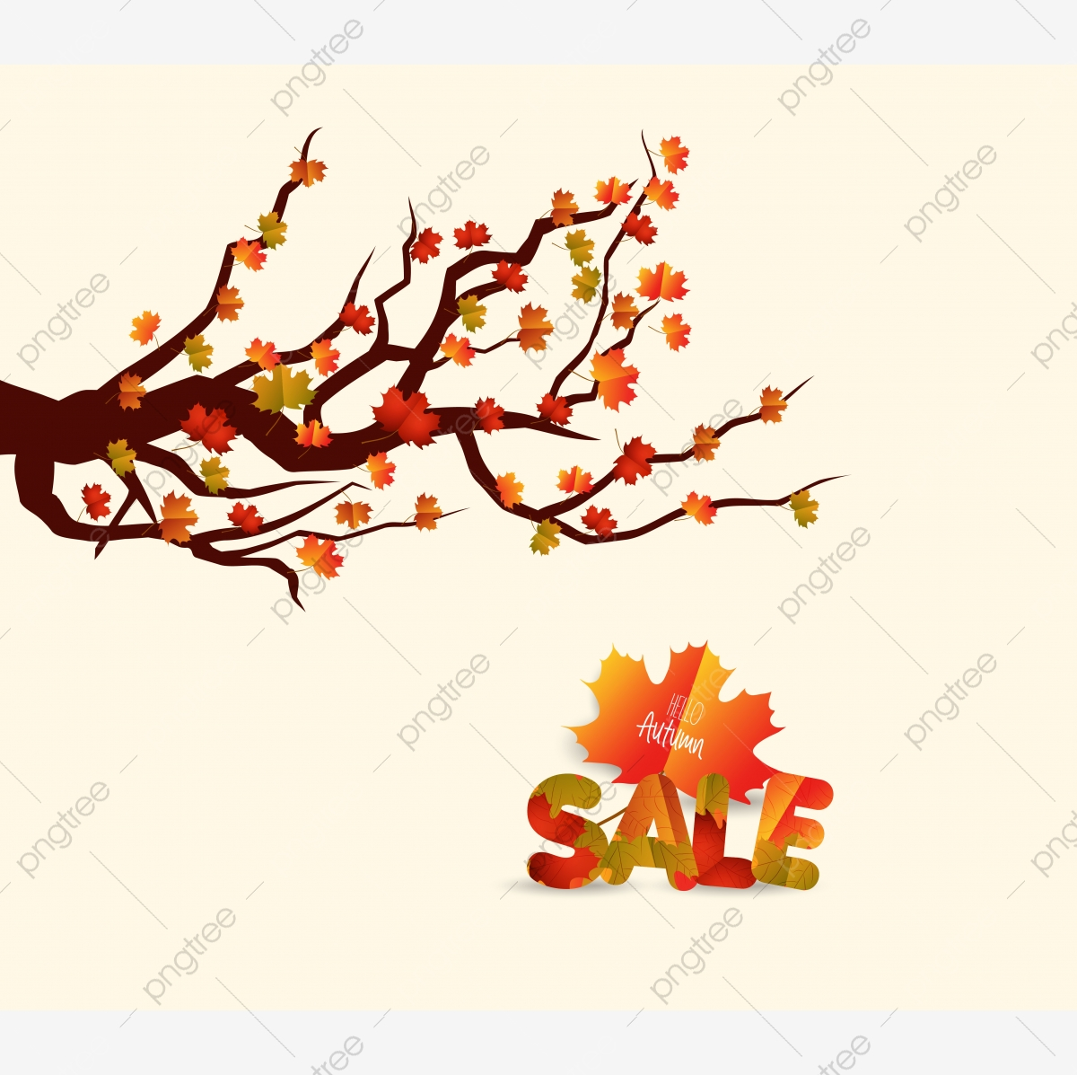Autumn Tree Fall Leaves Background Autumn Background Beauty Png