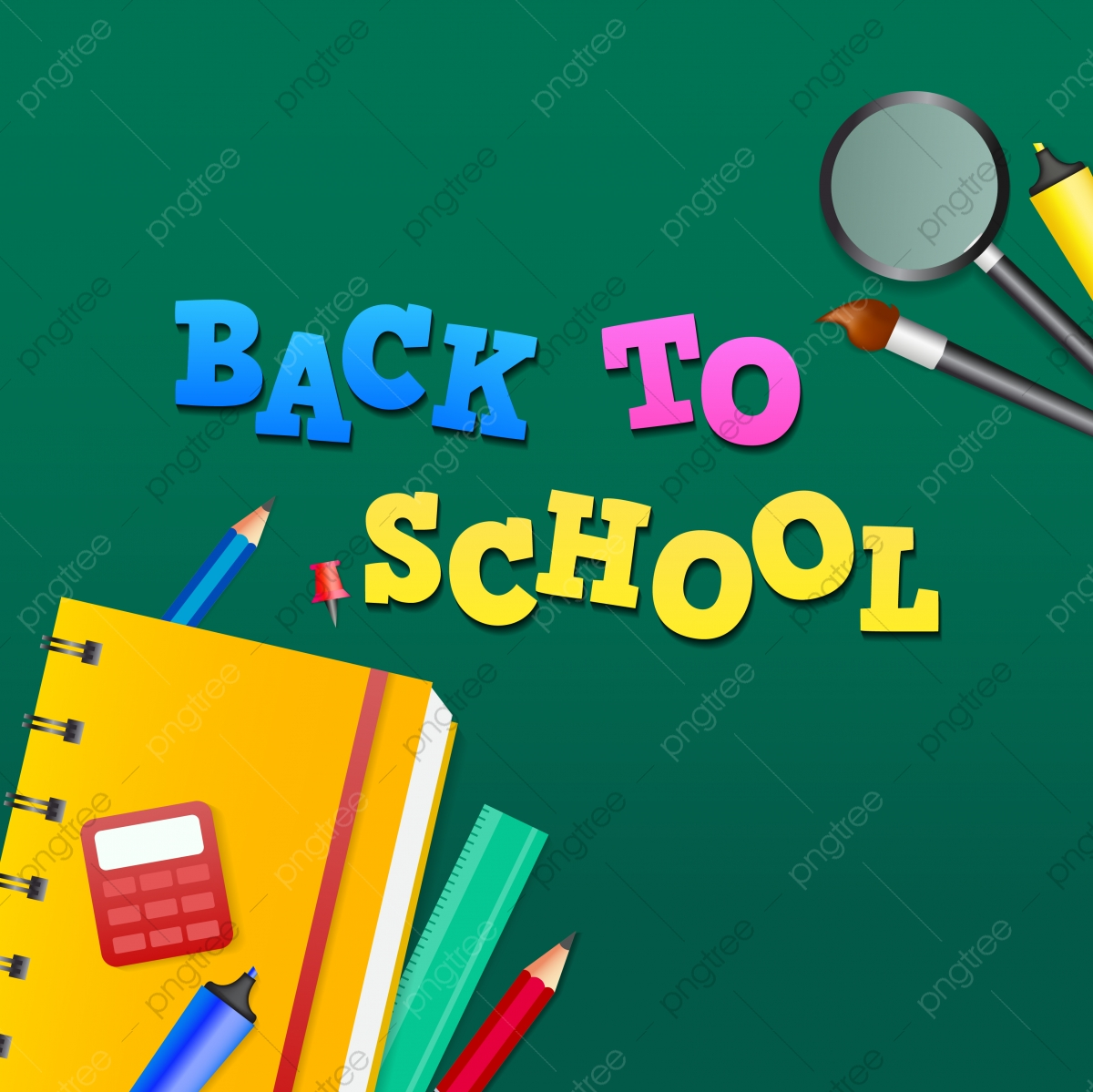 Back To School Poster Or Banner Design Back To School Education Vector Blackboard Png And Vector With Transparent Background For Free Download