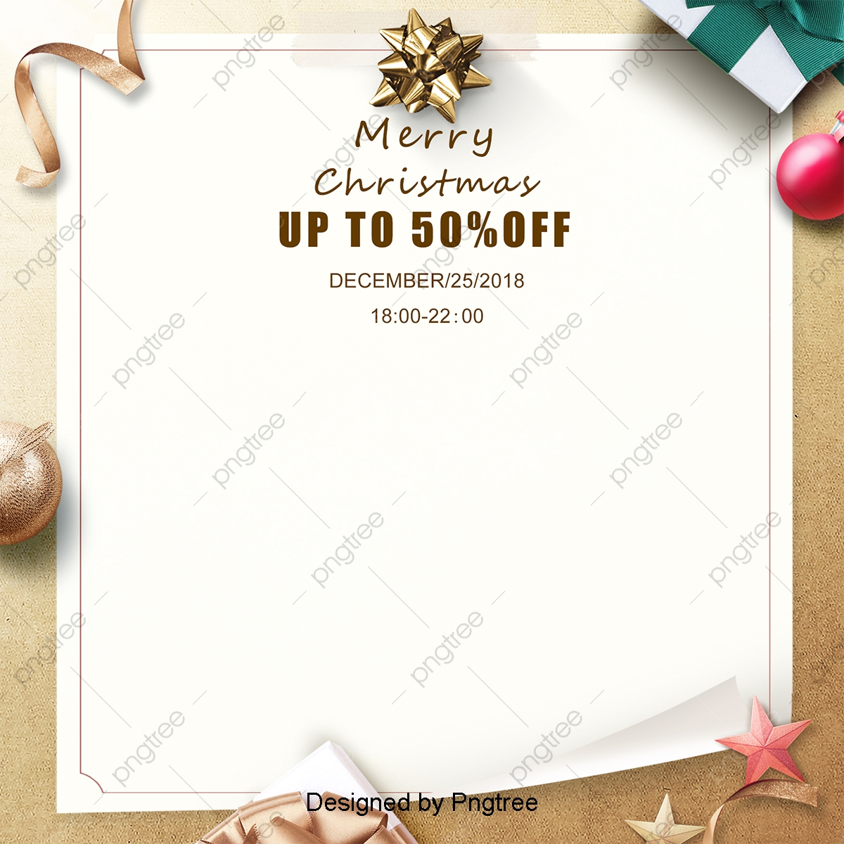 Christmas Invitation Background Png.Background Of Yellow Simple Christmas Invitation Letter