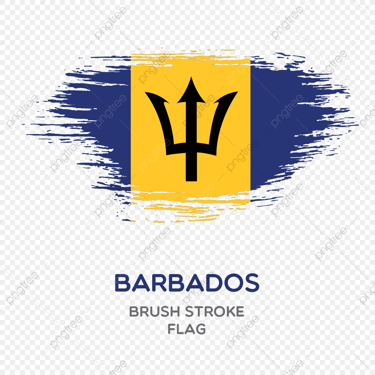 Barbados Brush Stroke Flag Brush Stroke Flags Country Flag National Flag Png And Vector With Transparent Background For Free Download