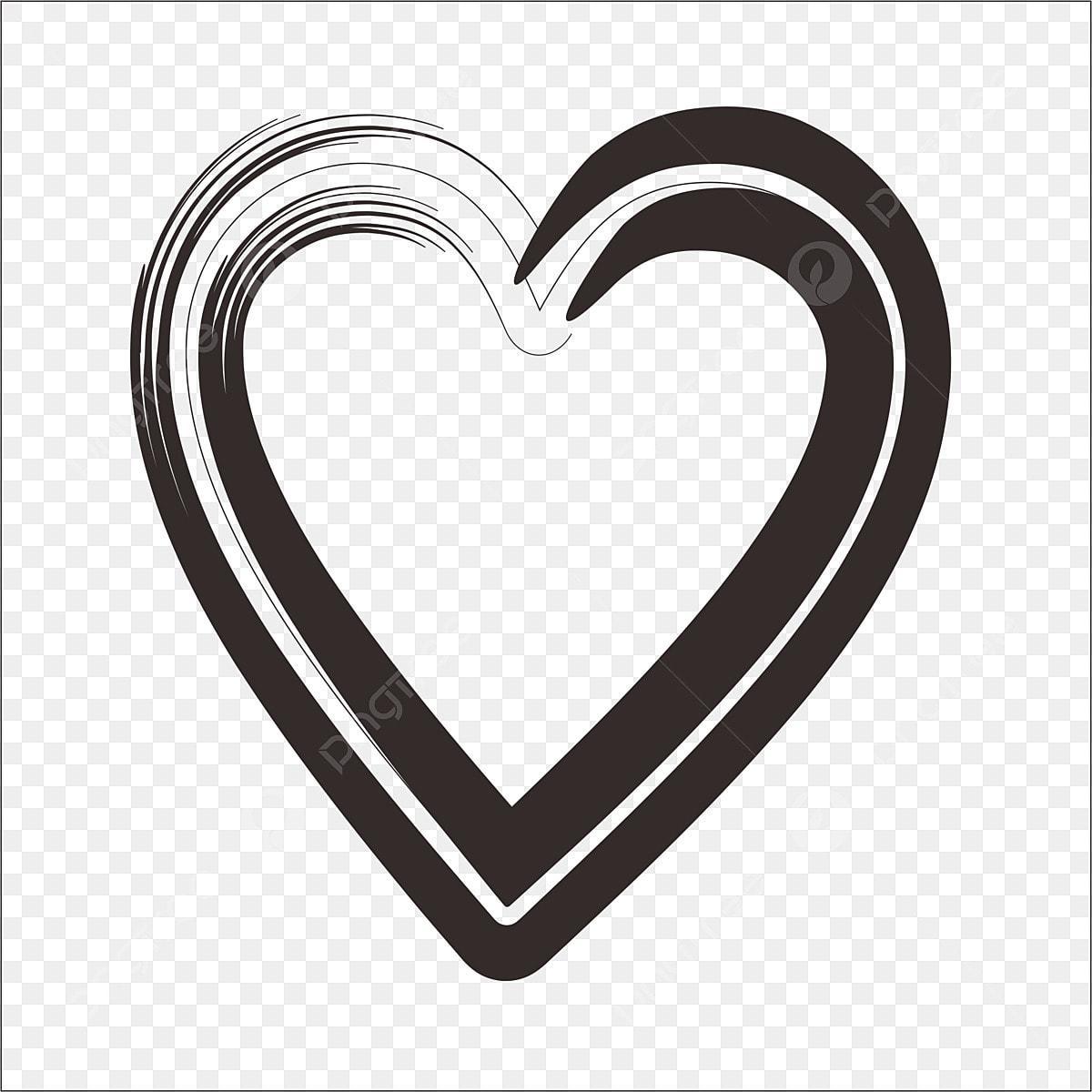 أسود أسلوب الفرشاة الحب الاسود رسوم متحركة رومانسي أسلوب فرشاة