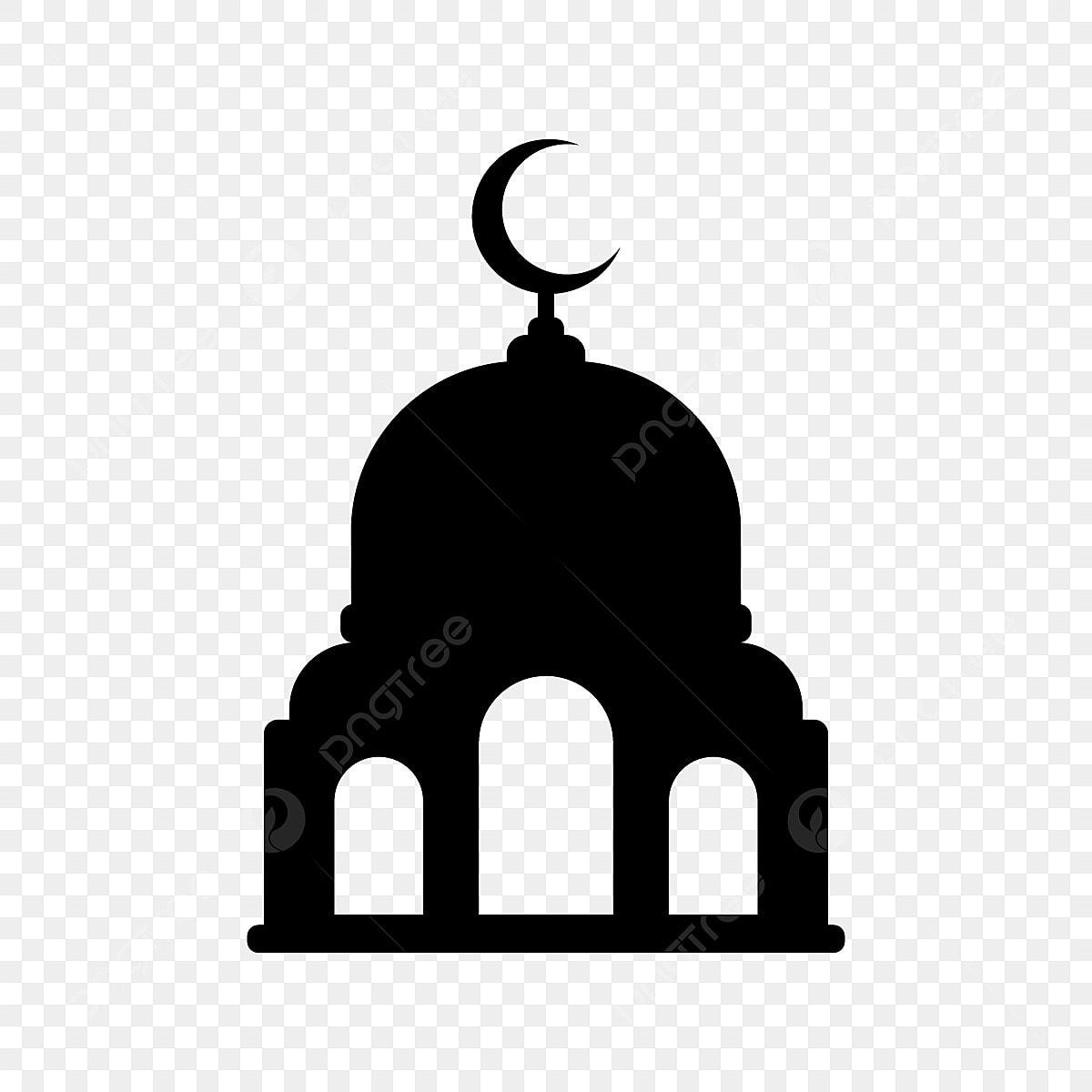 Gambar Ikon Masjid Hitam Ikon Hitam Putih Png Dan Vektor Untuk Muat Turun Percuma