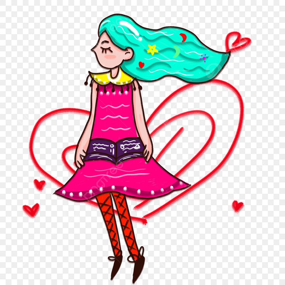 青い髪の漫画かわいい女の子イラスト女の子 花 可愛い 可愛い 青い髪の漫画かわいい女の子イラスト女の子 花 帽子画像とpsd素材ファイルの無料ダウンロード Pngtree