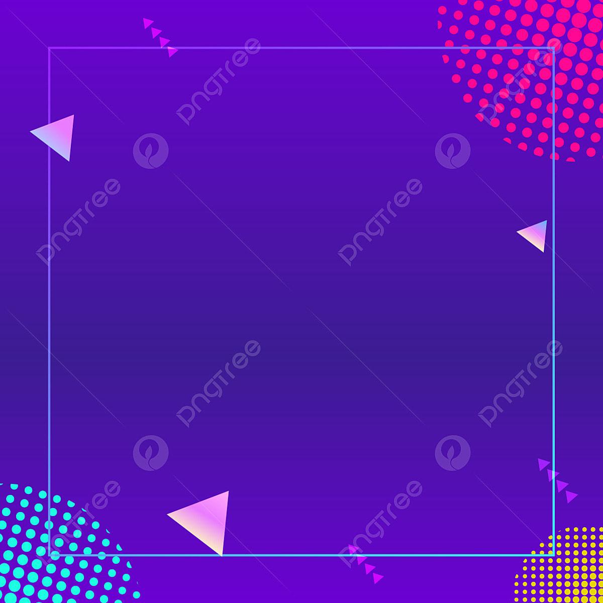 Blue Simple Square Background Illustration, Simple, Blue