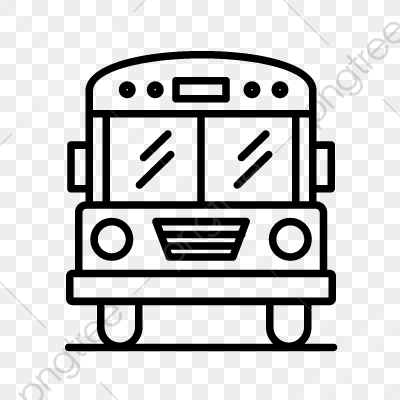 Bus Line Black Icon Bus School Bus Line Png And Vector With