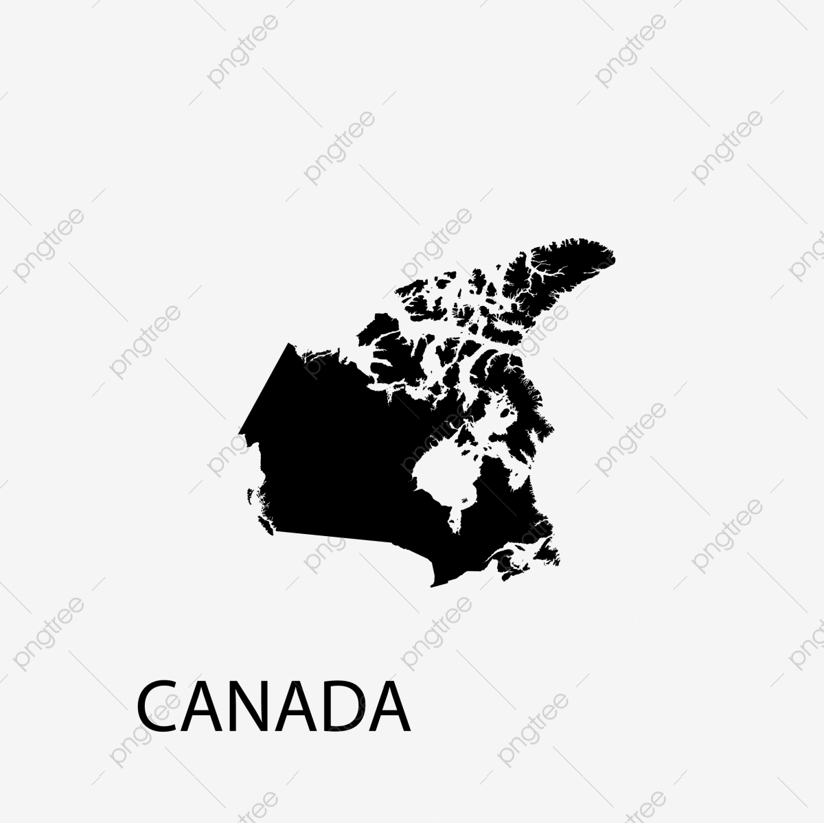 Canada Map Icon Canada Map World Png And Vector With