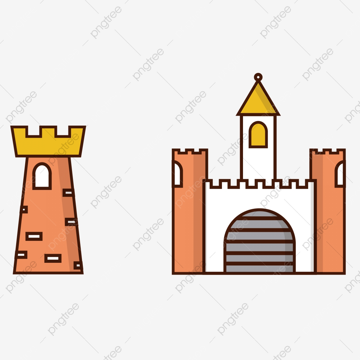 Cartoon Castle Shape Cartoon Castle Castle City Wall Castle Pattern City Wall Pattern Cartoon City Wall Png And Vector With Transparent Background For Free Download