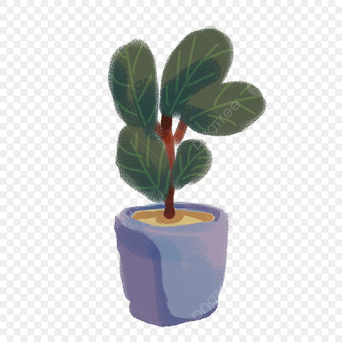Pngtree & Cartoon Green Fresh Decorative Flower Pot European Flower ...