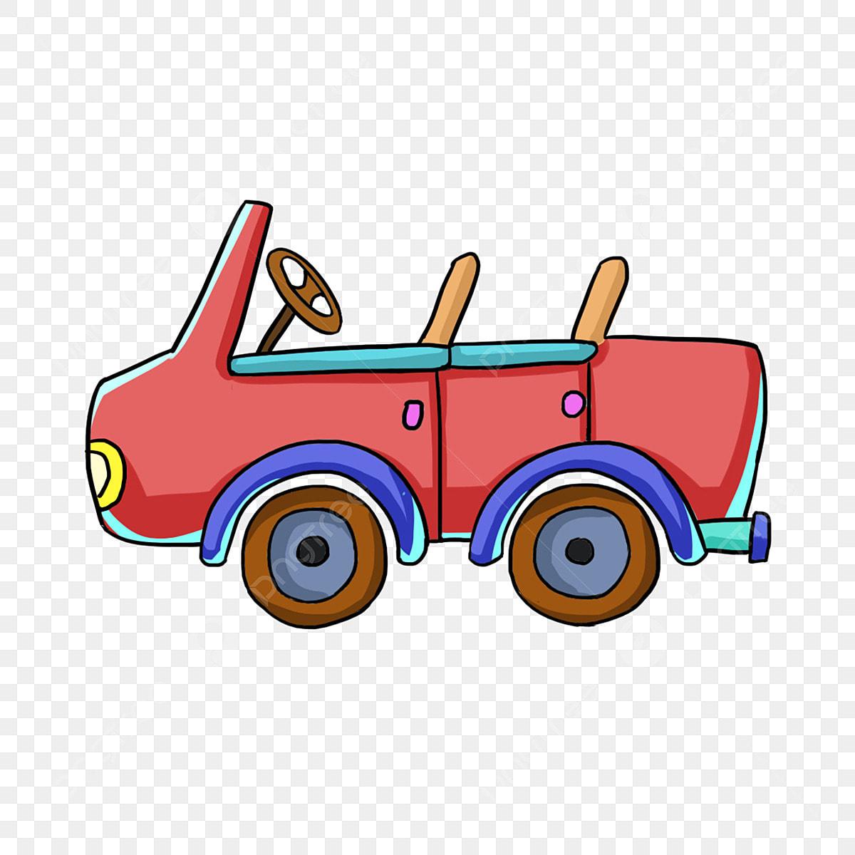 Cartoon Hand Painted Child Toy Car Red Car Cartoon Car Kids Toys