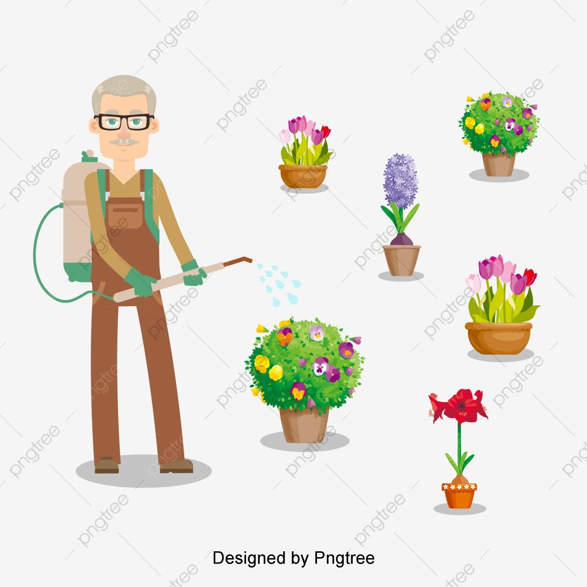 Jardinero De Dibujos Animados Diseño Pintado A Mano Cartoon Simple