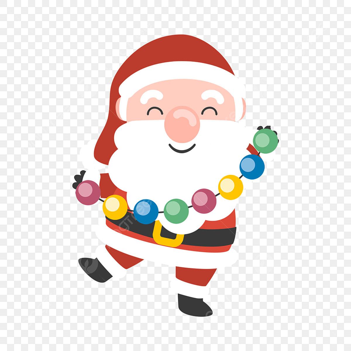 Cartoon Santa Christmas Old Man Cute Santa Playing With ...