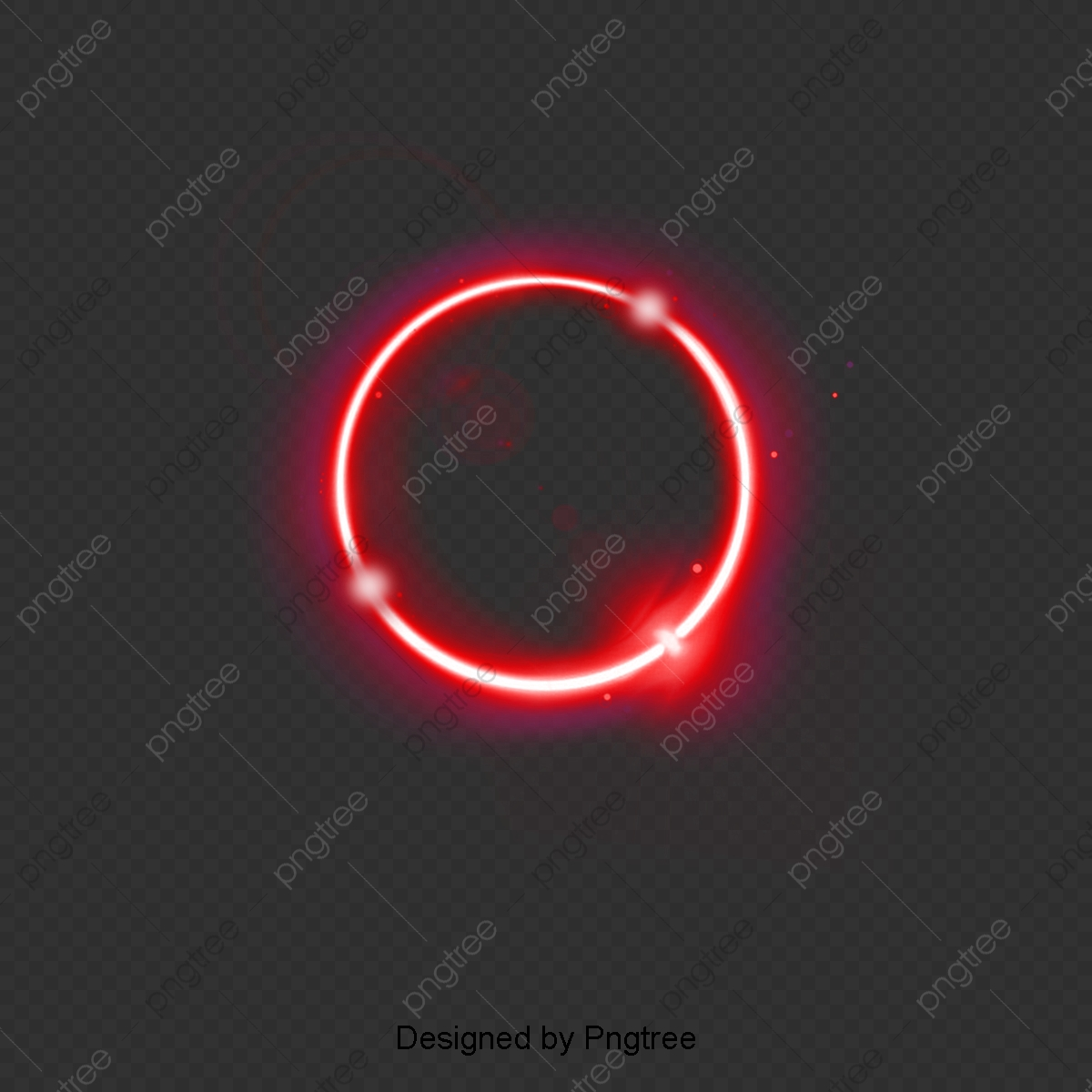 Cartoon Simple Glow Circle Line Element, Cartoon, Simple