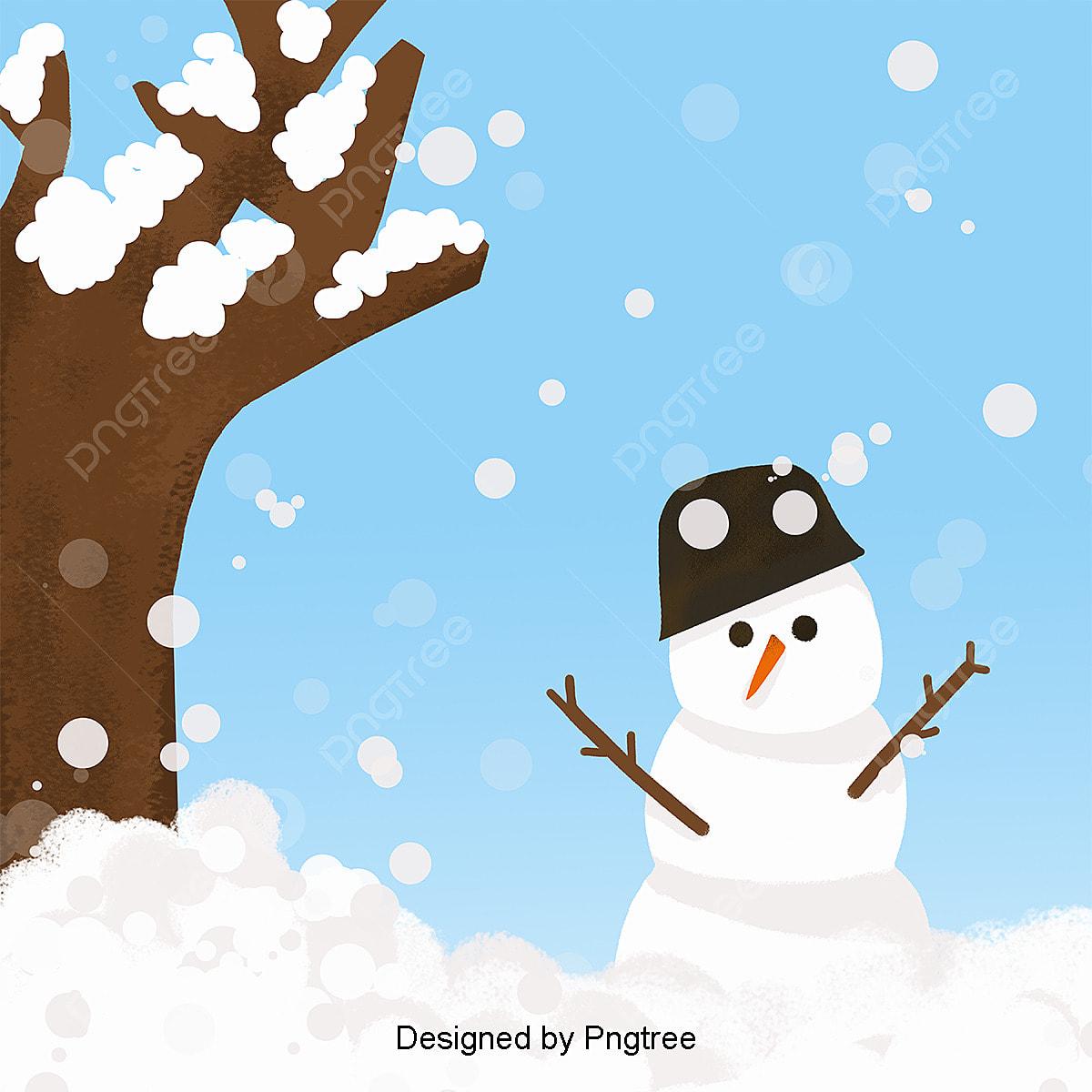 Desenhos De Boneco De Neve De Inverno Linda Flocos De Neve O