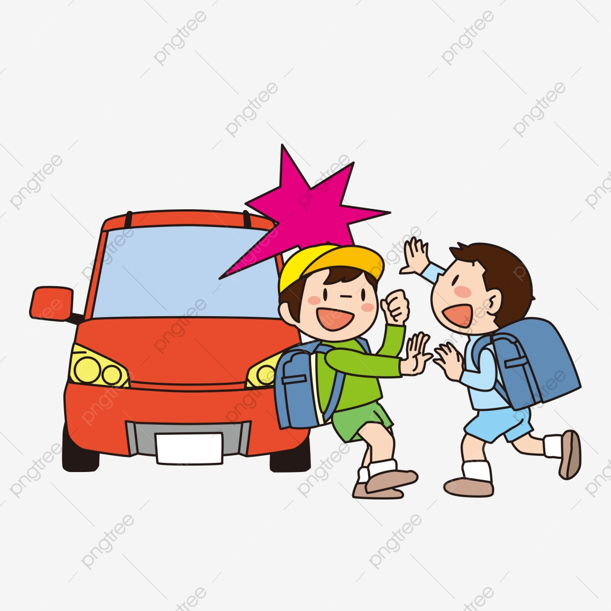Child Safety Education Cartoon Hand Drawn Childrens Unsafe Behavior Play On The Road Uncivilized Life Safety Child Safety Education Poster Safety Png And Vector With Transparent Background For Free Download