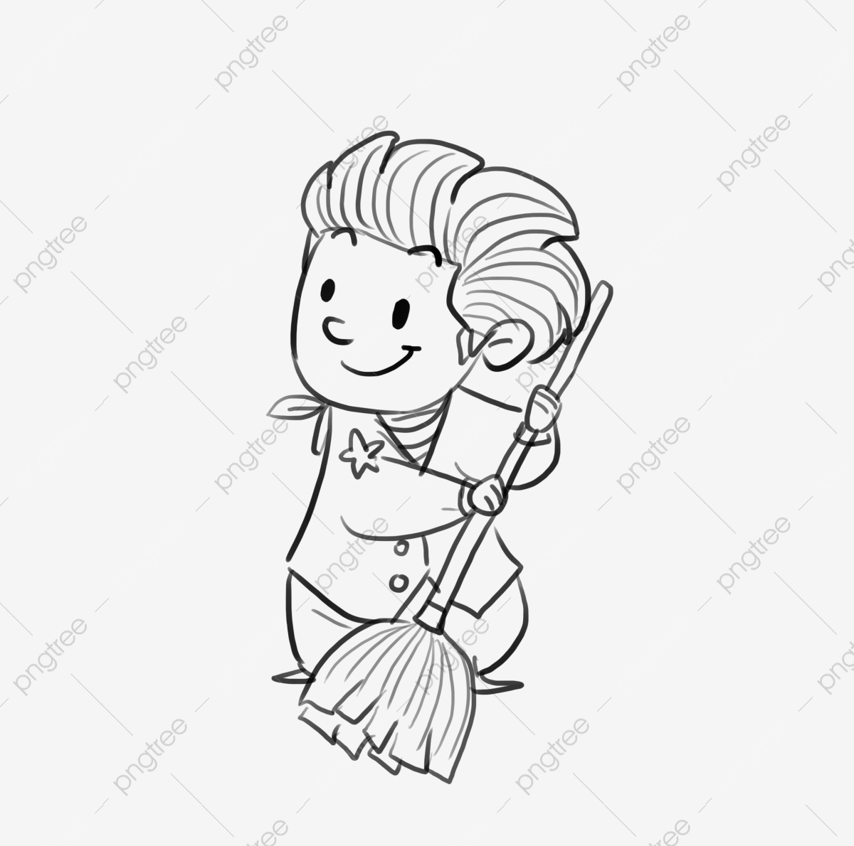 childrens day short sketch hand painted graffiti little boy sweep the floor png transparent clipart image and psd file for free download https pngtree com freepng childrens day short sketch hand painted 3824020 html