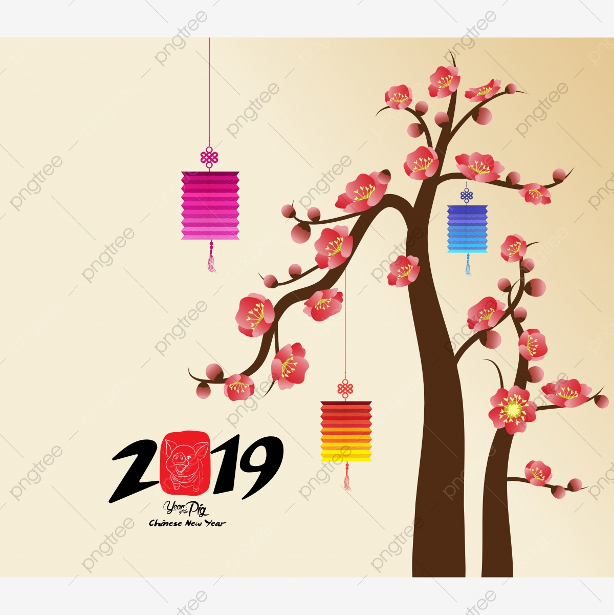 El Año Nuevo Chino Es Decoracion Para Blossom Festival De