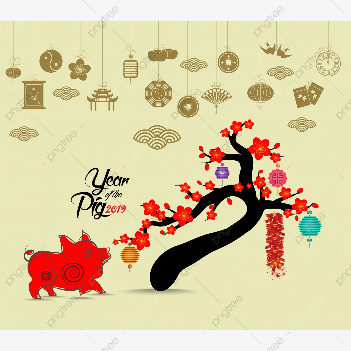 Año Nuevo Chino Linterna Decoracion Para Blossom Festival De