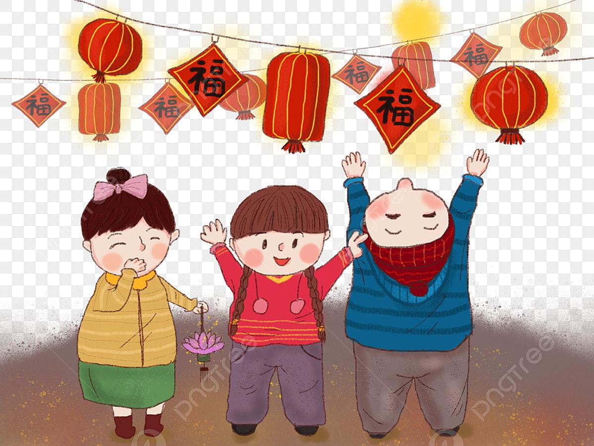 Gambar Gaya Cina Lukisan Crayon Kanak Tahun Baru Tahun Baru Cina Baru Png Dan Psd Untuk Muat Turun Percuma