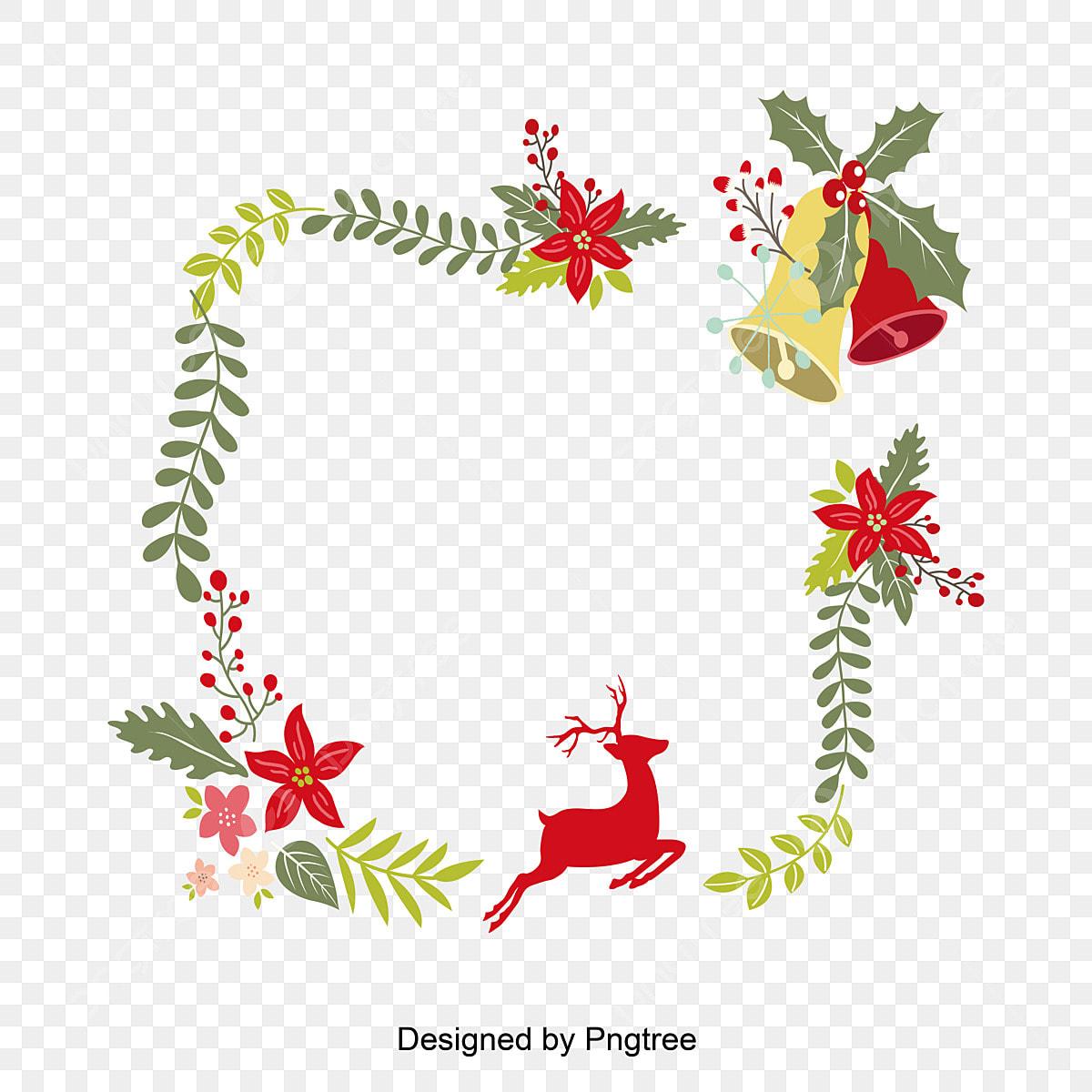 Bordure Vectorielle De Noël Noël Carillon Square Png Et