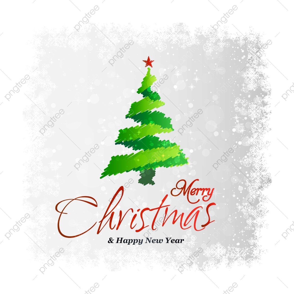 Christmas Card With Creative Elegant Design And Light