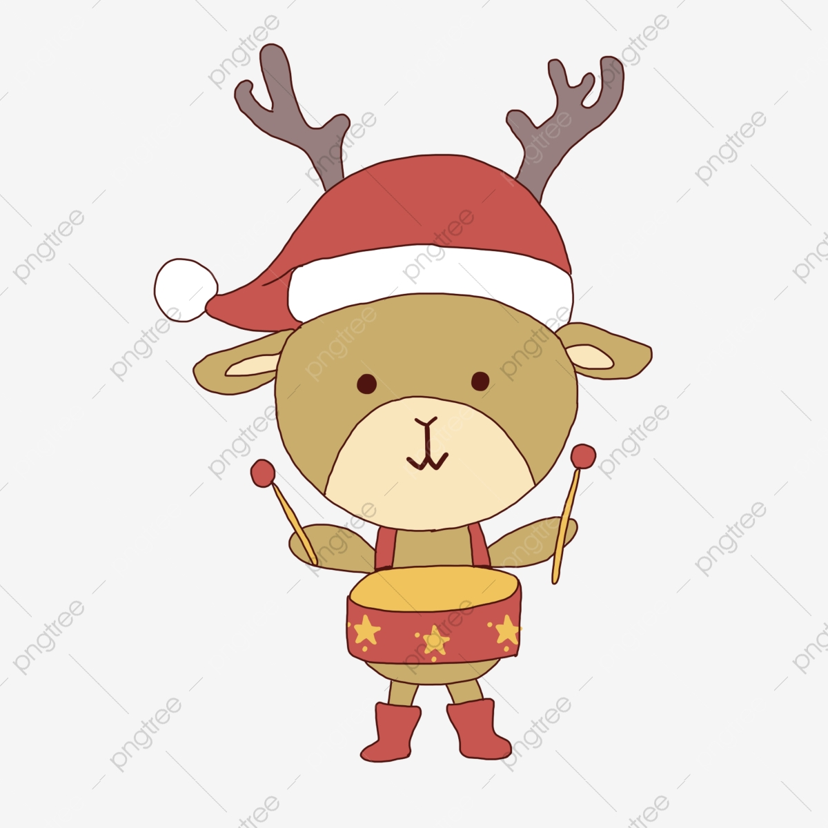 De Noël Dessin Animé Dessiné à La Main Simple Warm Beau